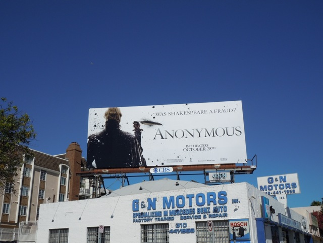 Anonymous film billboard
