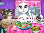 Tom And Angela Dinner Fun is a free online game for girls on GamesGirlGames.com.Help Angela play a fun prank on Tom. She wants to serve him his favorite dish and put a lot of salt and pepper on it. Make sure Angela completes her evil plan and does not get caught. Enjoy!