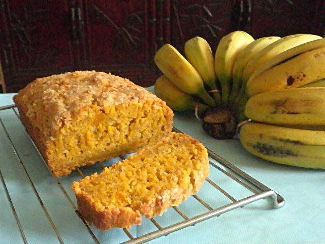Pumpkin Banana Bread Recipe @ http://treatntrick.blogspot.com
