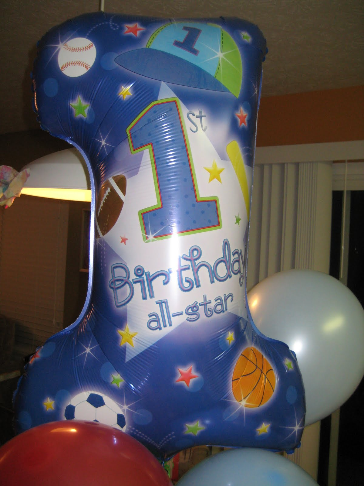 Sports Themed Balloon Decor Treats By Christi 1st Birthday Sports