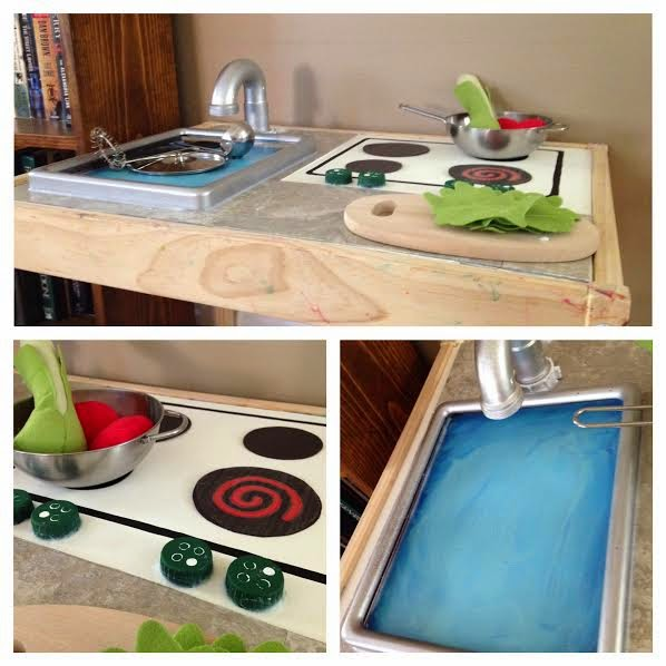 Play kitchen hack for ikea l tt table blogher for Play kitchen table