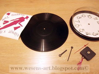 VinylRecordClock lady3 by wesens-art.blogspot.com