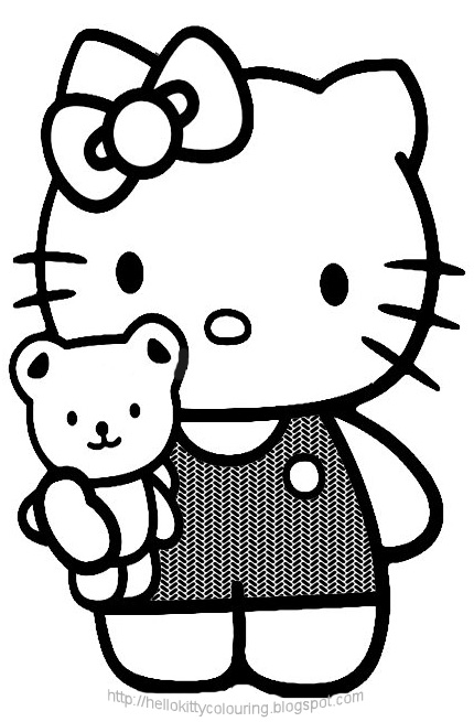 Pagine da colorare di hello kitty - Coloriage hello kitty ...
