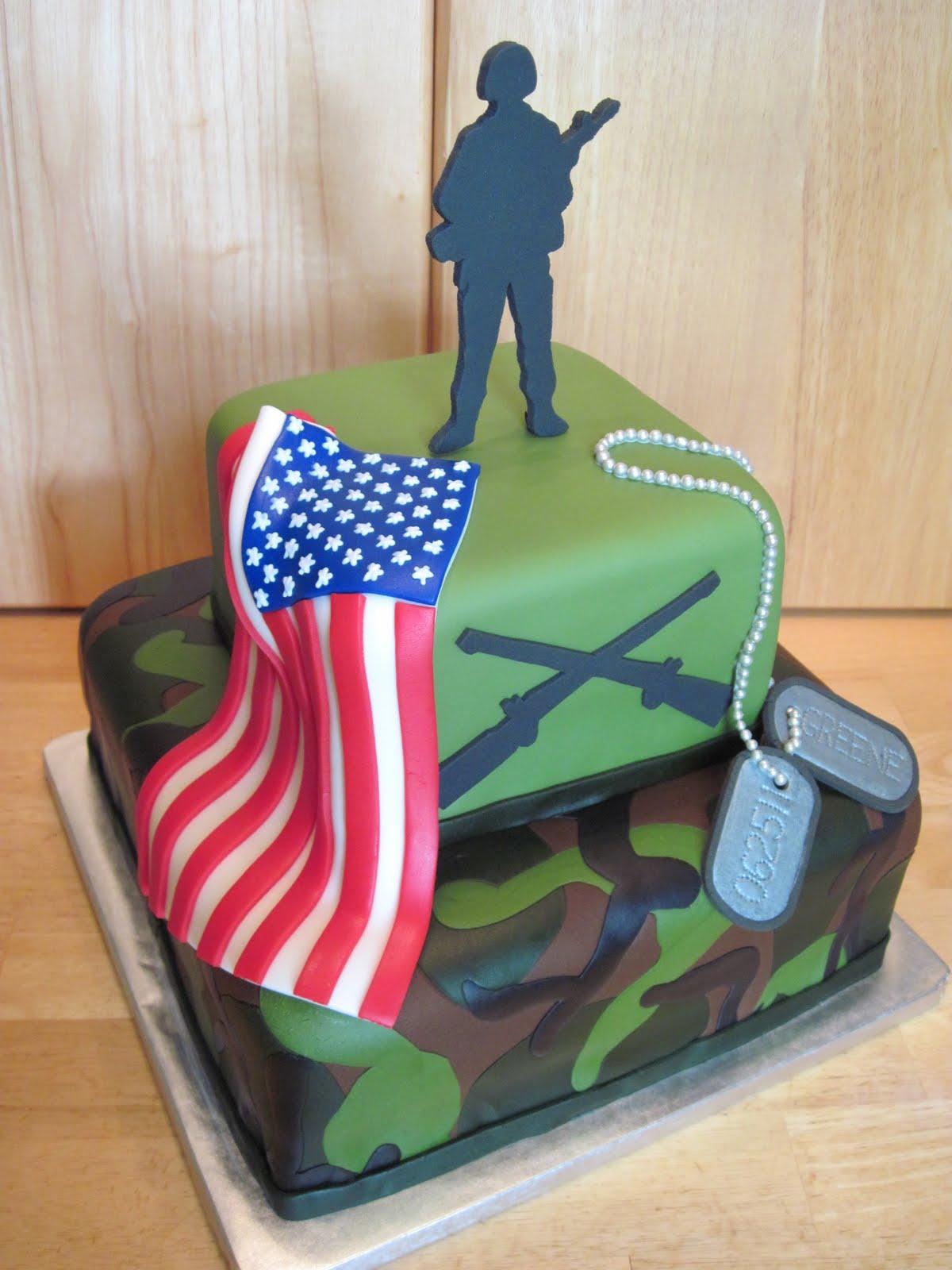 Navy Military Cake Kids