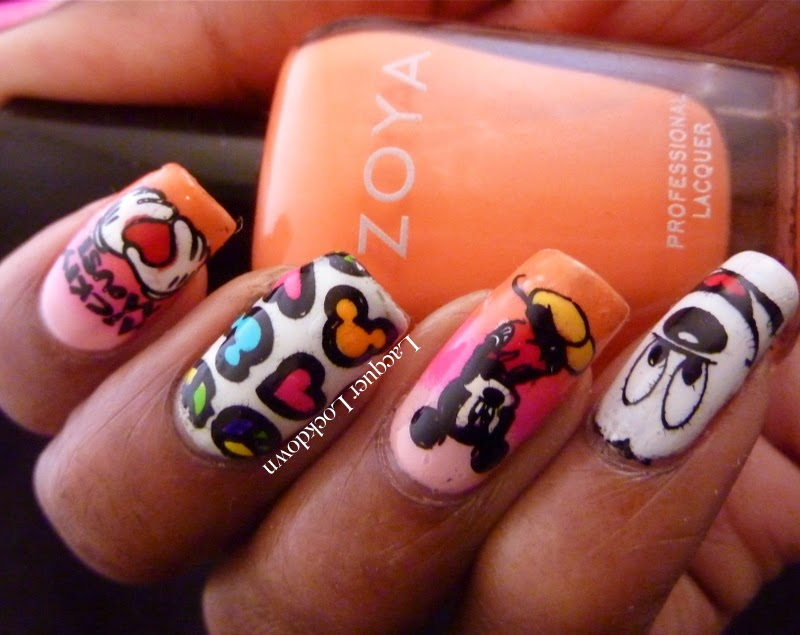 Lacquer Lockdown: Neon Mickey Mouse MyOnline Shop Nail Art