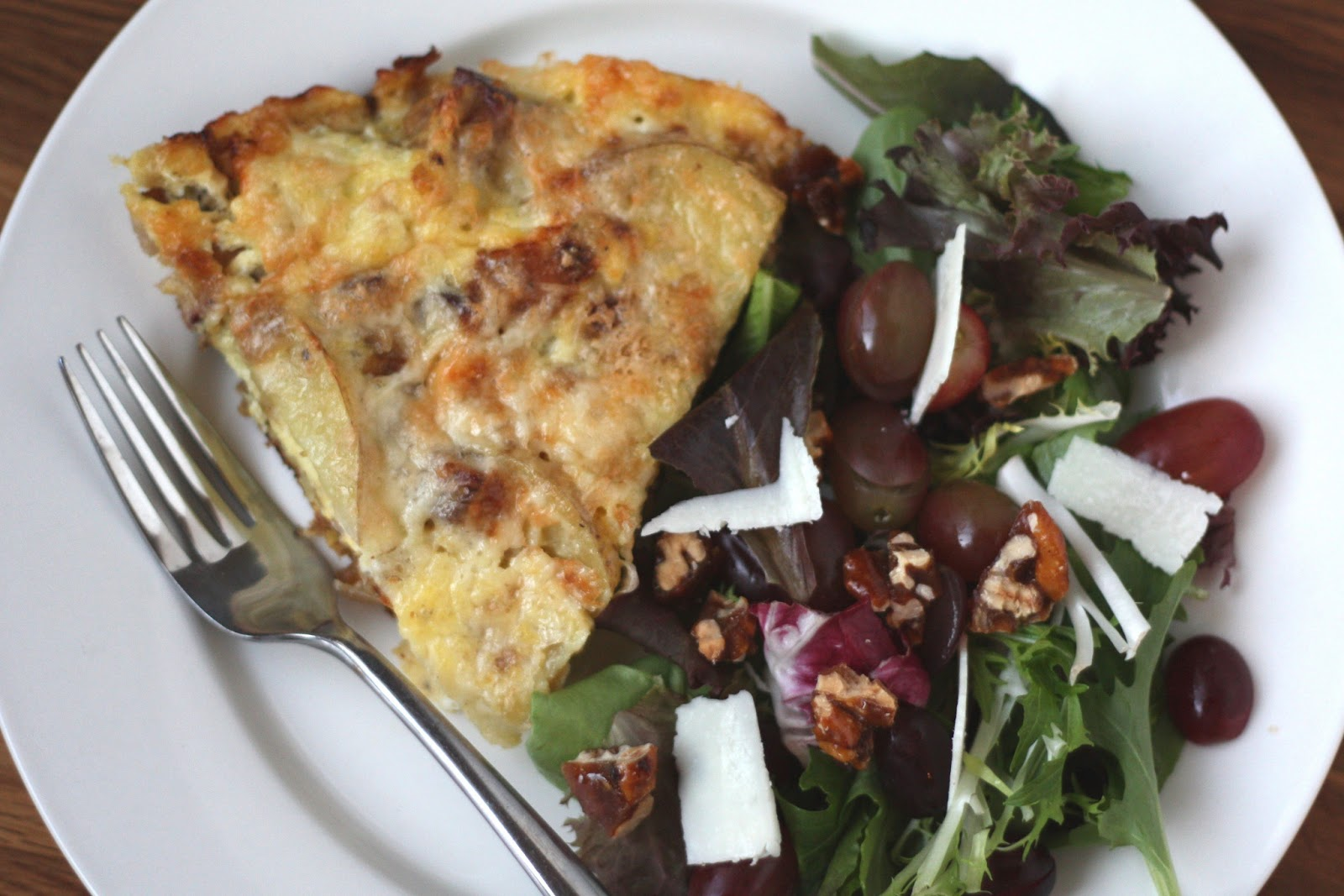 Barefeet In The Kitchen: Bacon Caramelized Onion and Potato Frittata