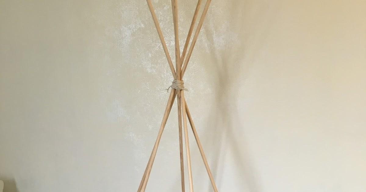 diy 1 fabriquer un tipi pour la chambre de b b. Black Bedroom Furniture Sets. Home Design Ideas