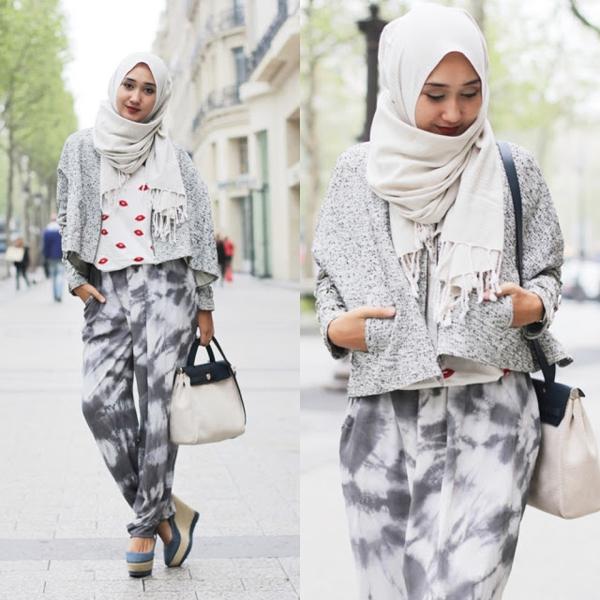 Cara Pakai Hijab Jilbab Penampilan Dian Pelangi Yang Colourful