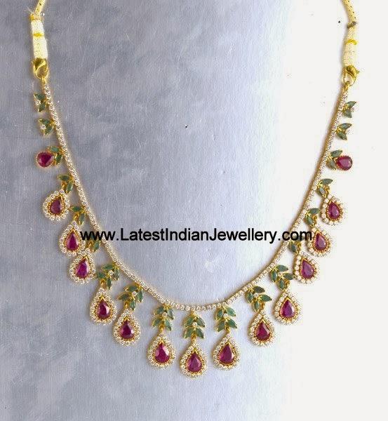 Designer CZ Gold Necklace