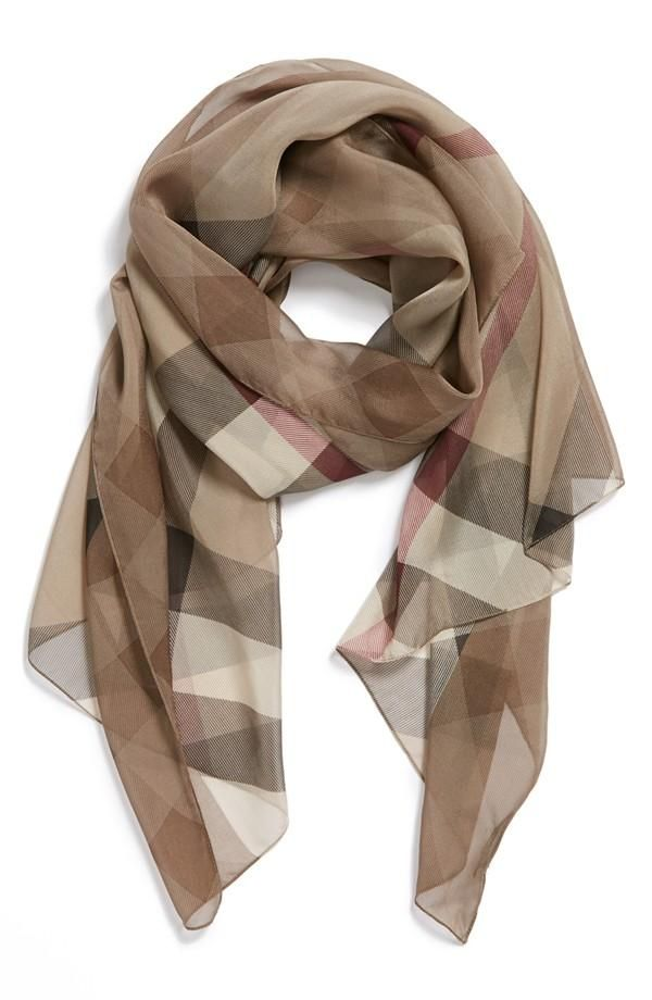 Gorgeous Check Print Designer Scarf For Spring