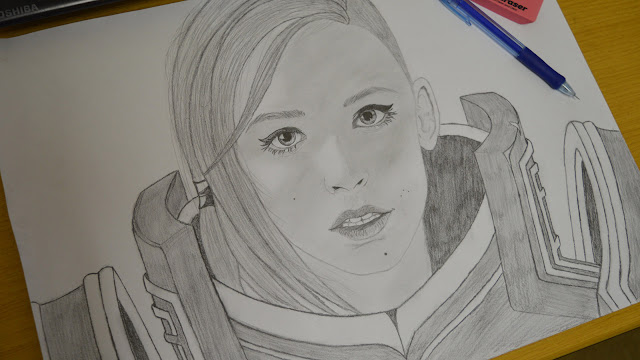 Drawing fan art of Johanna from Hots - part 4