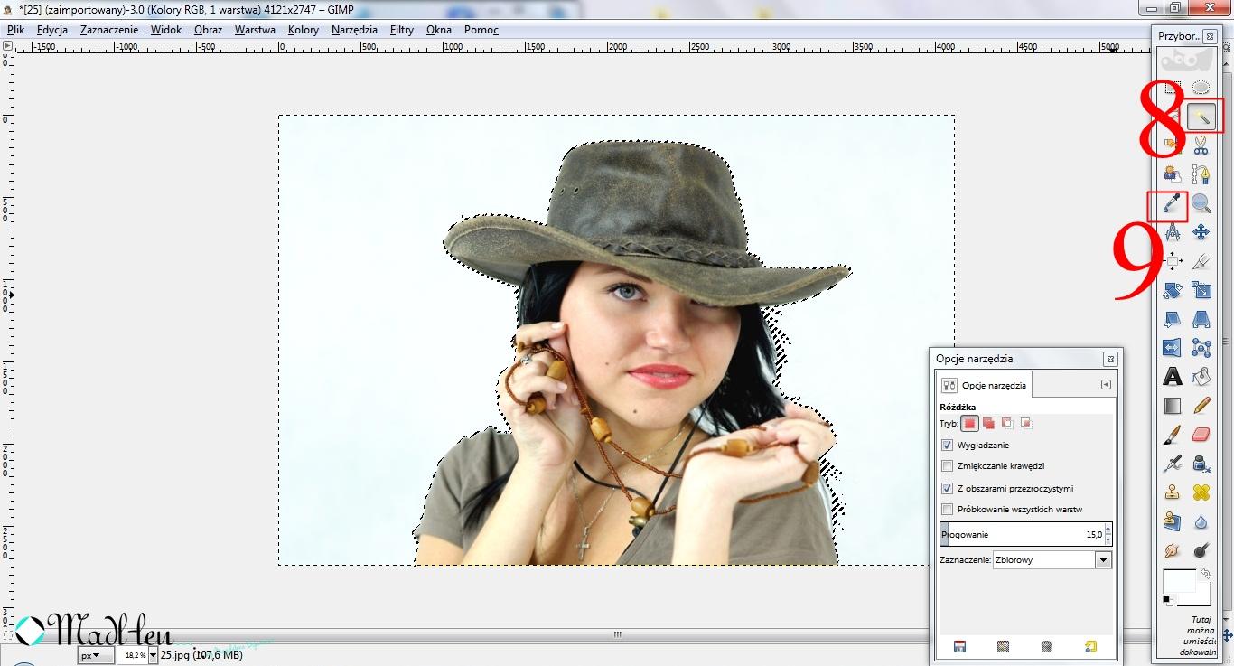Obróbka zdjęć w GIMPie