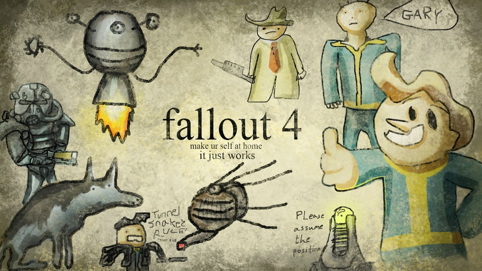 fallout 4 comic wallpaper