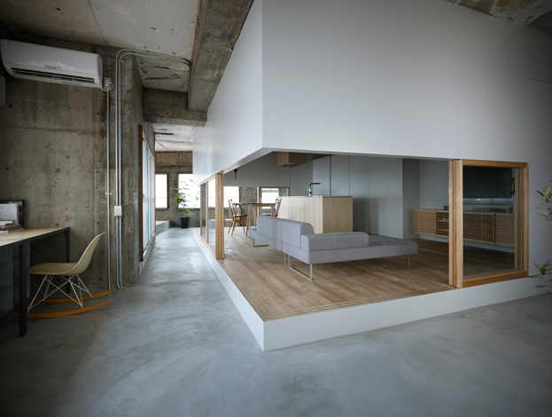 A kitchen within a house within a warehouse Home Design Kitchen