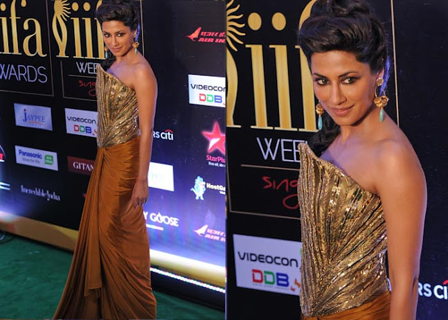 chitrangada singh looks veryc - chitrangada singh gold gown bare shoulders HOT dReSs