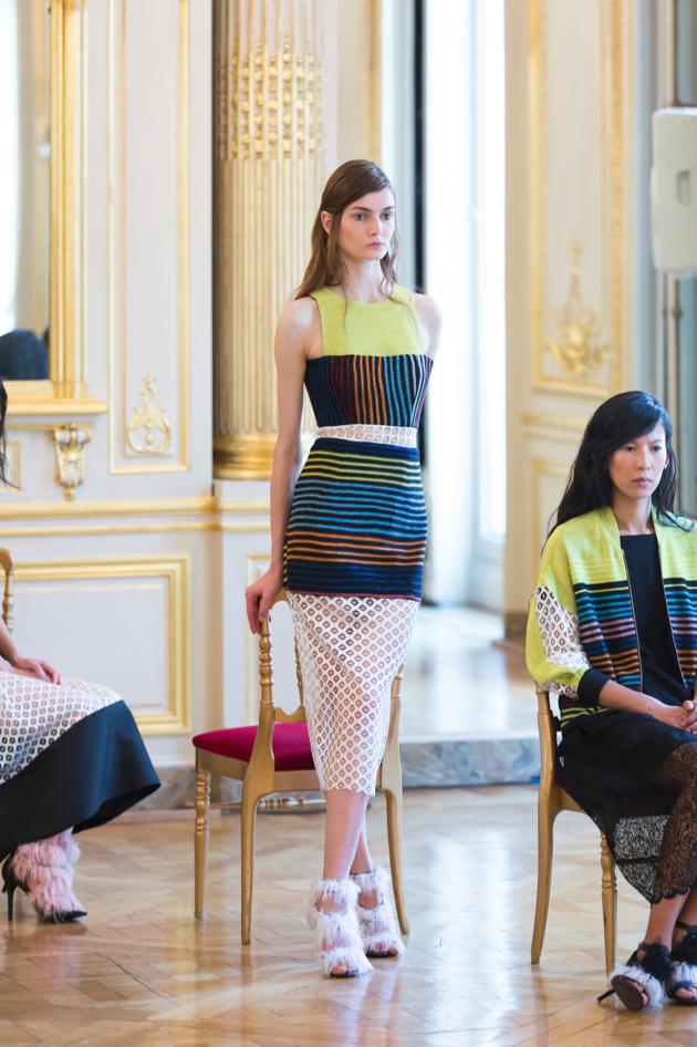 full length look, dress, metallic knitted fabric, natargeorgiou spring 2016