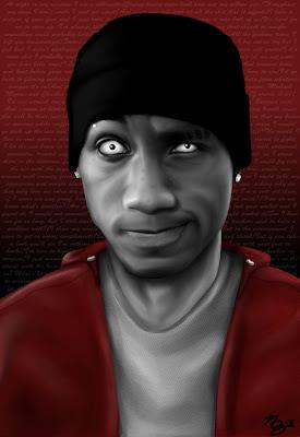 modern illustration - hip hop rappers