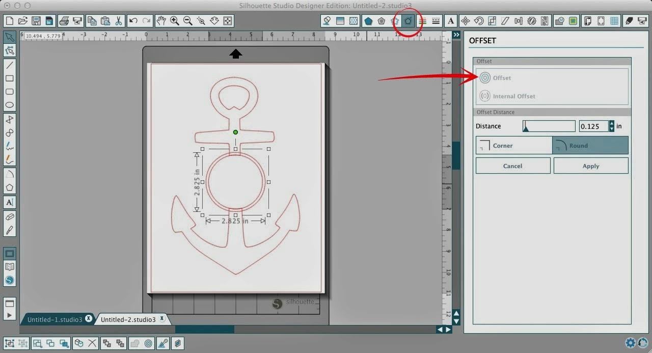 Circle Split Anchor Silhouette Studio Tutorial Works For