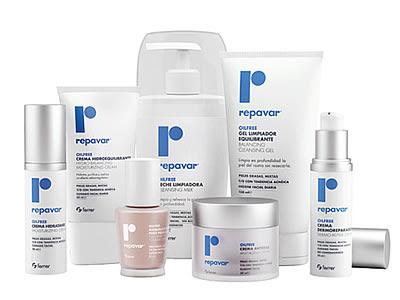 Linea de productos repavar oil free, indicada especialmente para piel mixta, grasa o con tendencia acneica