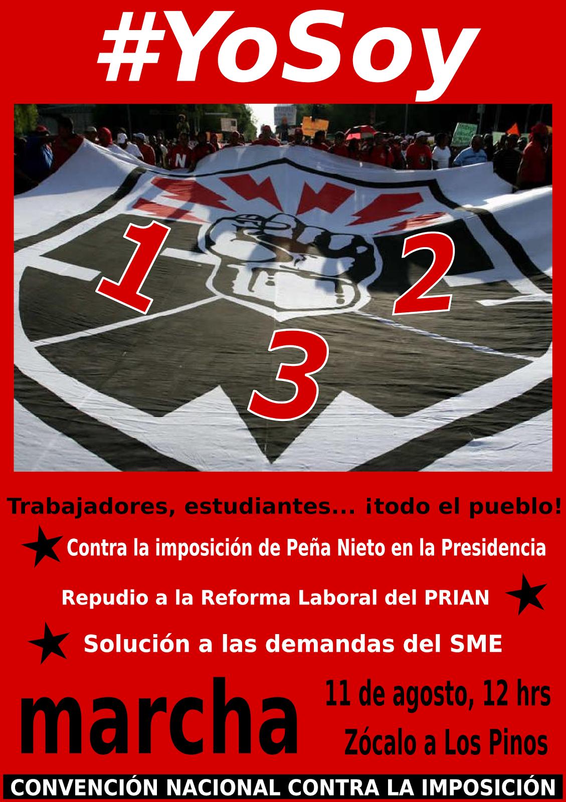 11 DE AGOSTO, MARCHA CON EL SME