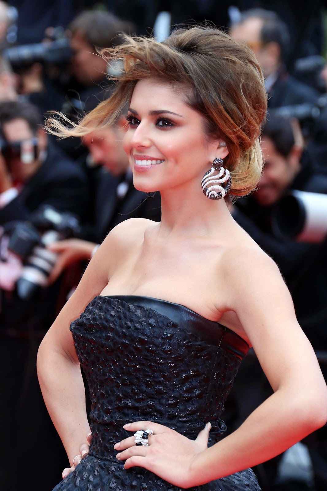Cheryl Cole, black and white diamonds, De GRISOGONO, Cannes 2014