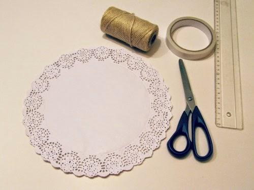 Materiales para hacer la guirnalda