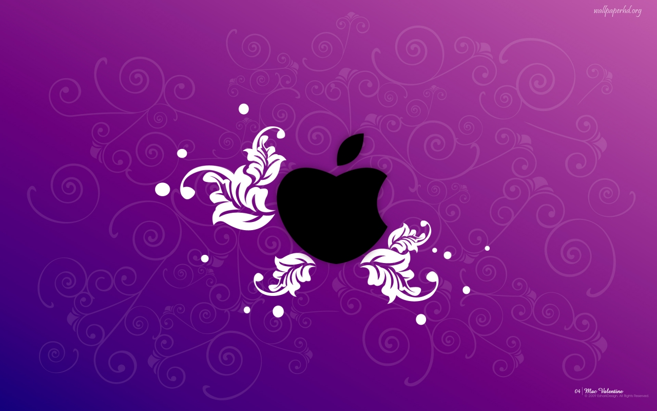 apple love purple wallpaper download