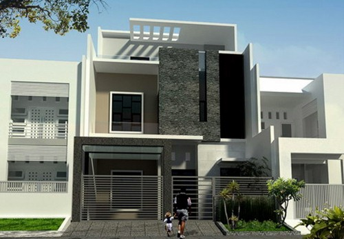 Exterior appearance of luxury homes for Exterior design building
