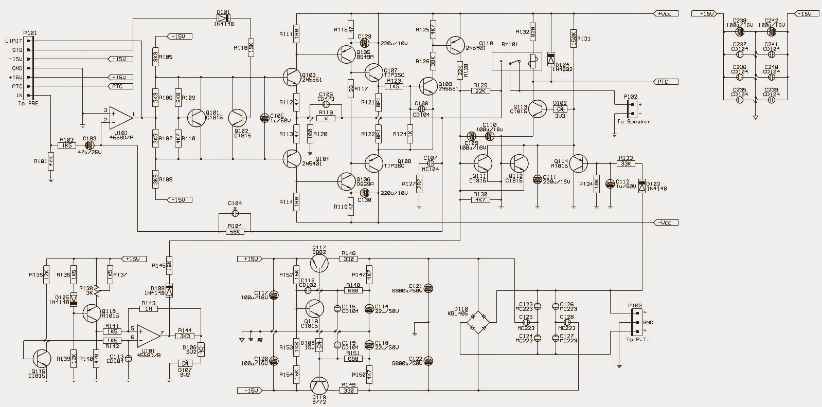 jbl balboa series powered sub-10  u2013 circuit diagram  u2013  schematic