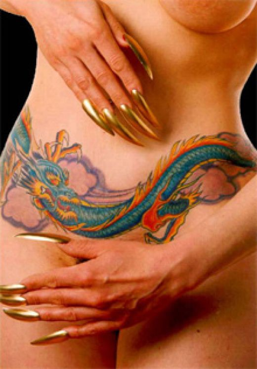 Back Dragon Tattoos For Women. ack dragon tattoos for women.