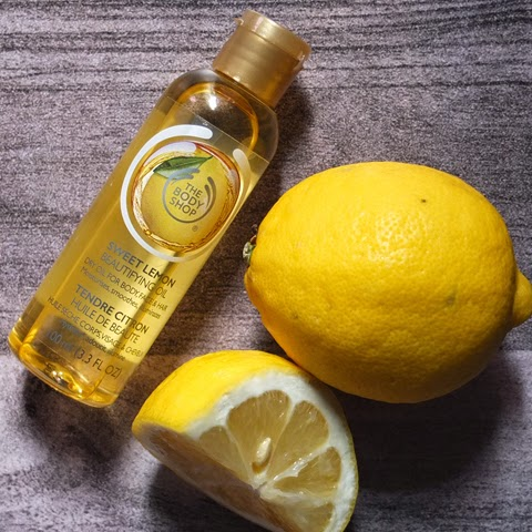 Beautifying oil The Body Shop Sweet Lemon