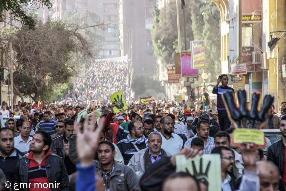 تغطية **ورة لمسيرة شبرا الخيمه-
