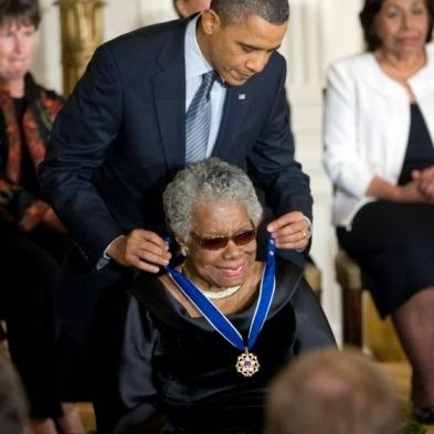 Maya Angelou Received Presidential Medal Of Freedom From President Obama