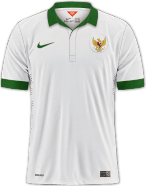 Kaos Jersey Bola Grade Ori Nike Player Issue Thailand Timnas Indonesia Away Special AFF Suzuki Cup 2014 - 2016
