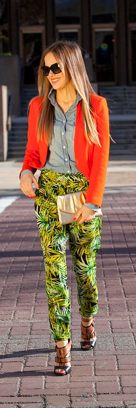 forever21 pants, jcrew top, zara blazer, shoe mint sandals, vintage bad and Dolce and Gabbana sunglasses Spring street style