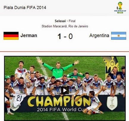 FINAL PIALA DUNIA 2014 JERMAN VS ARGENTINA