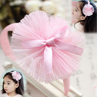 Pink bow Lancy hairband -- HA706 Price:RM18  per pc