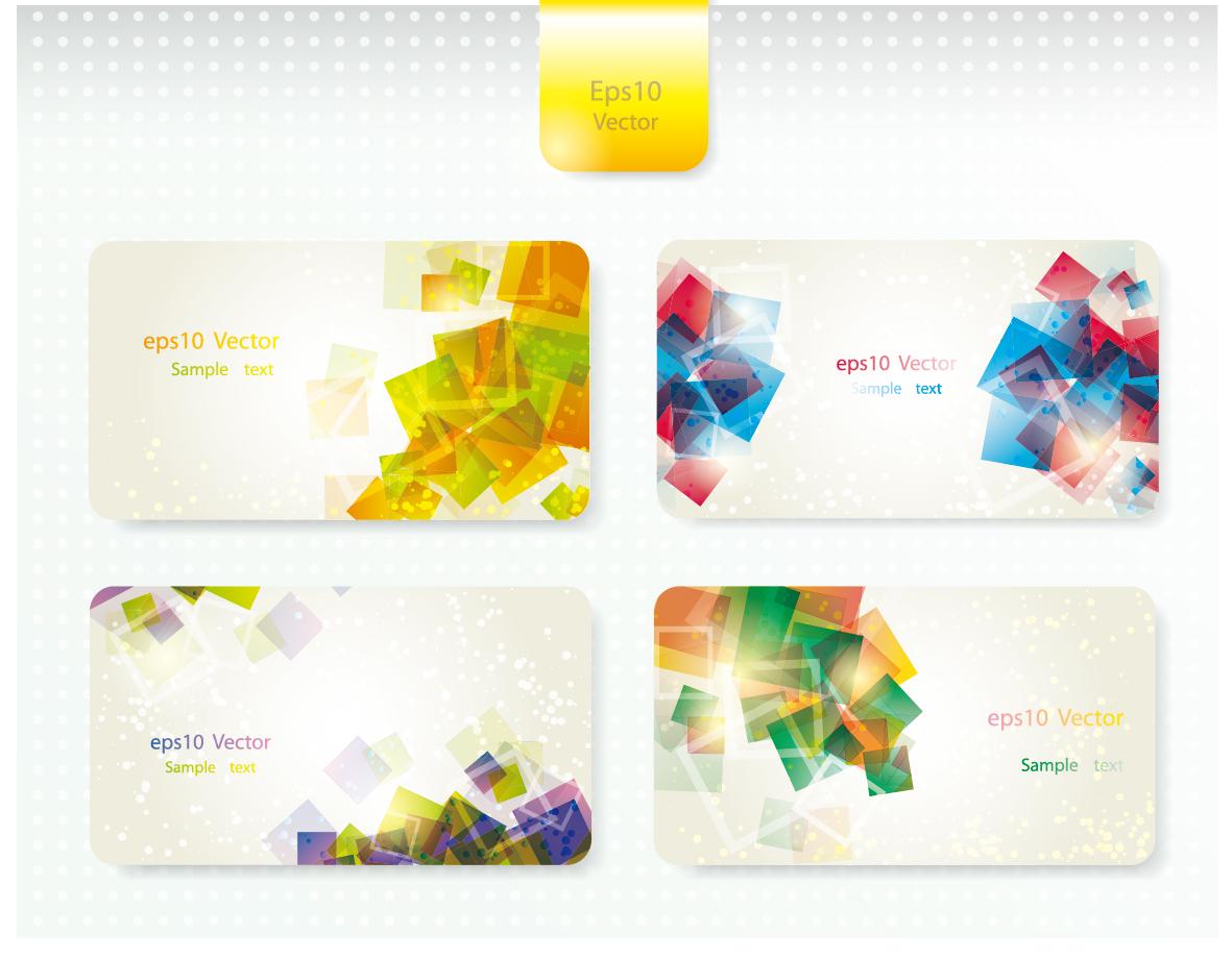 豪華に光る立方体を重ねたカード背景 dynamic gorgeous card background イラスト素材