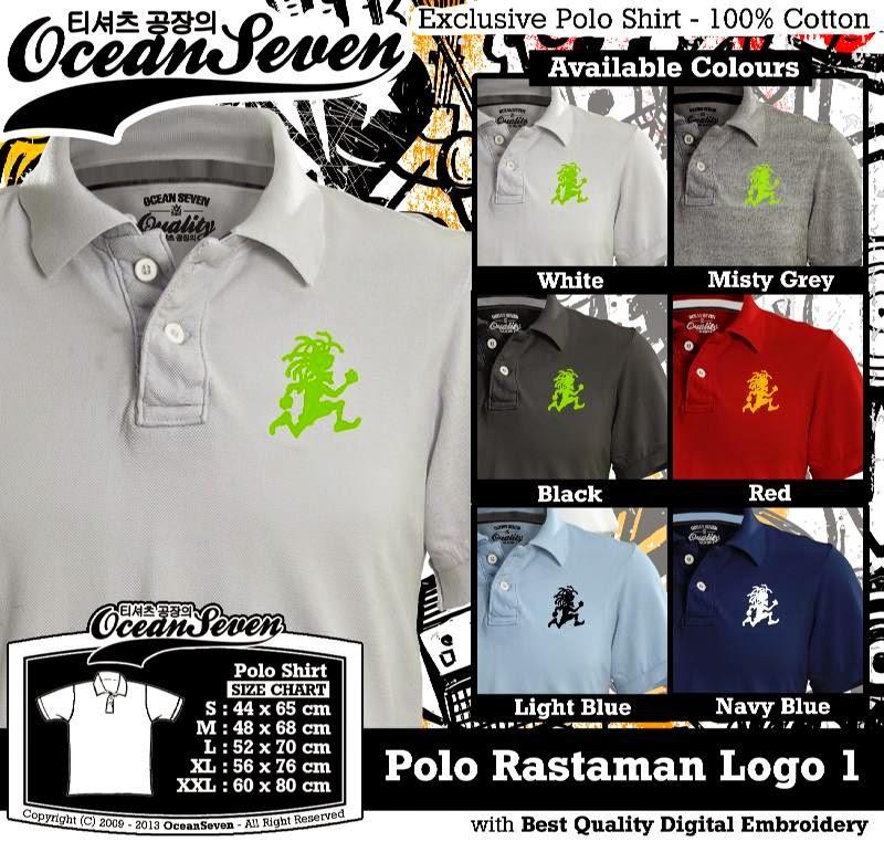 Kaos Polo Rastaman Logo 1