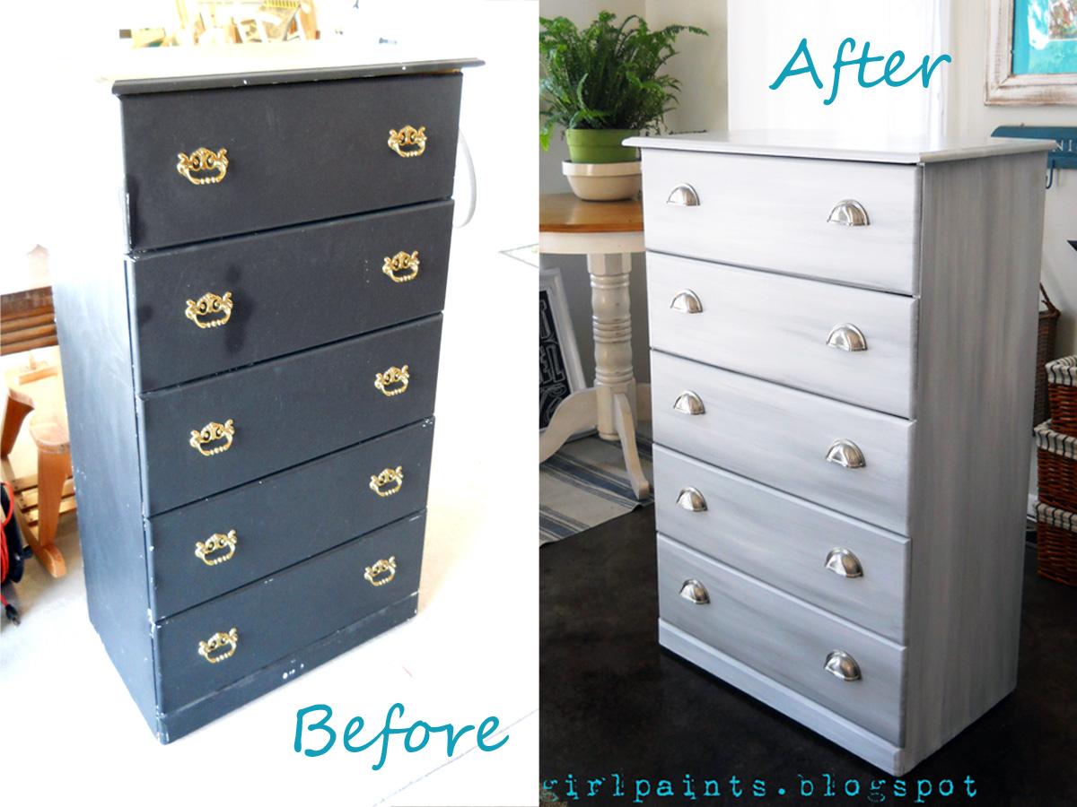 Nickel Gray And White Dresser