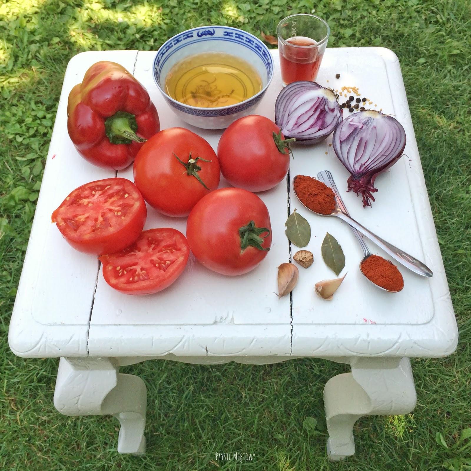 ketchup sos pomidorowy ptysiu mietowy