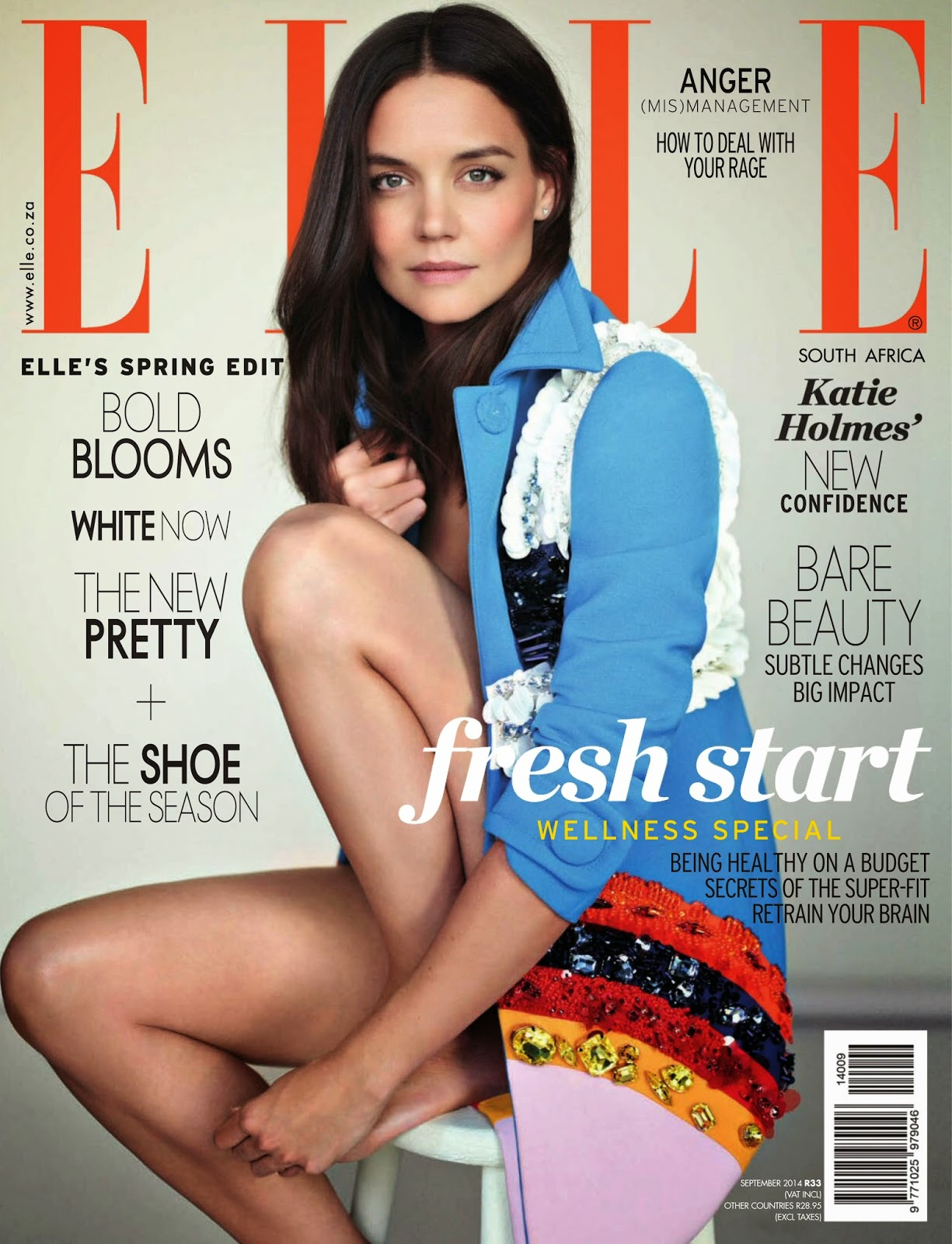 Katie Holmes - Elle Magazine, South Africa, September 2014