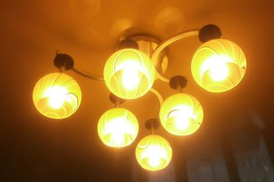 Люстра и энергосберегающие лампочки