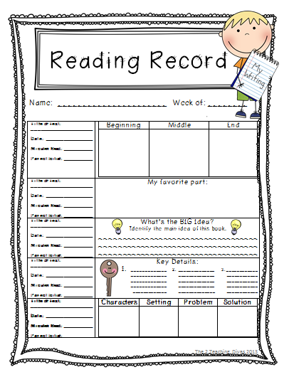 The 2 Teaching Divas: Weekly Reading Records!