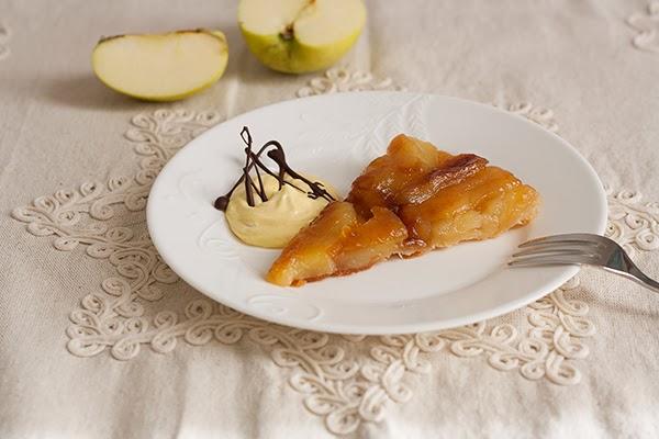 tarte tatin di mele con mousse di zabaione