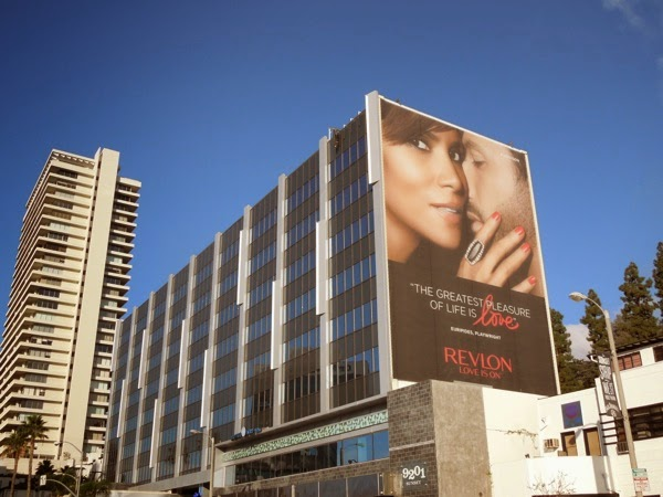 Giant Halle Berry Revlon Love billboard