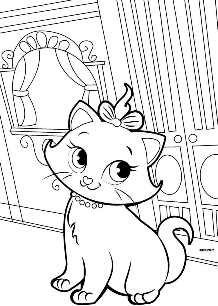 Candid image within cat coloring pages printable