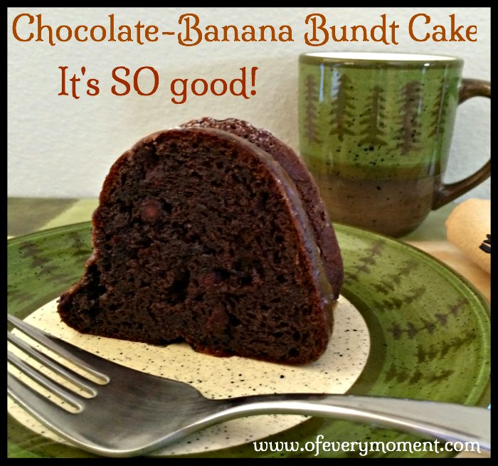 Chocolate Banana Bundt cake is easy and good