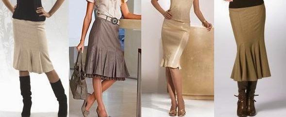 Модные юбки годе