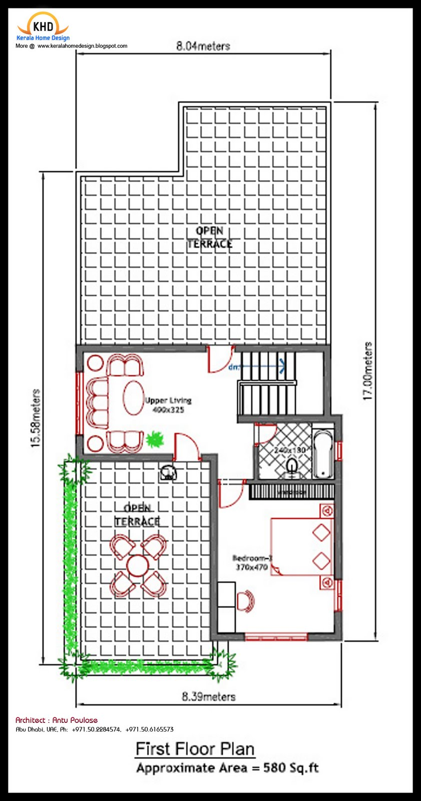 House Plan And Elevation 2020 Sq Ft Kerala Home: 300 ft to m